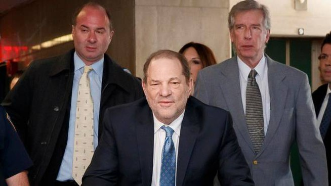 Harvey Weinstein in tribunale a New York (Ansa)