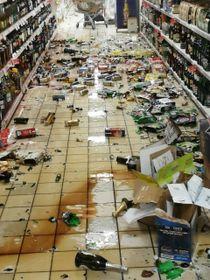 Merce caduta da scaffali in un supermercato nel Cosentino (Ansa)