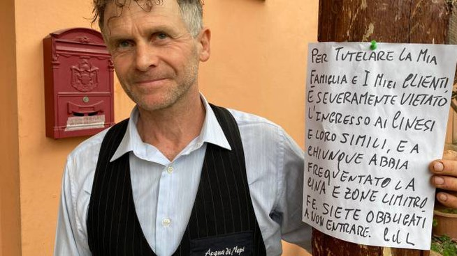 Il titolare del ristorante 'La primula' vieta l'ingresso ai cinesi