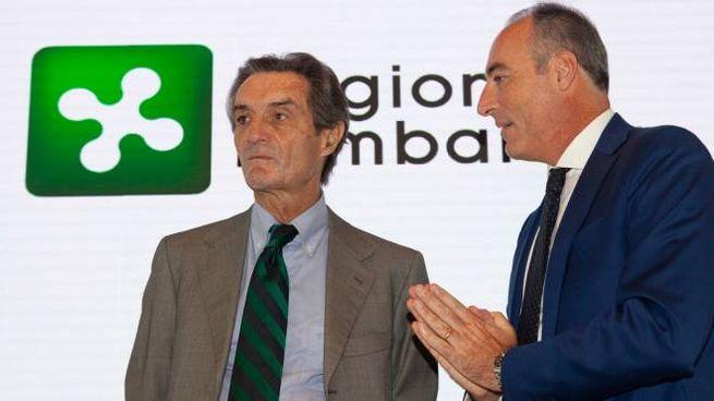 Attilio Fontana e Giulio Gallera