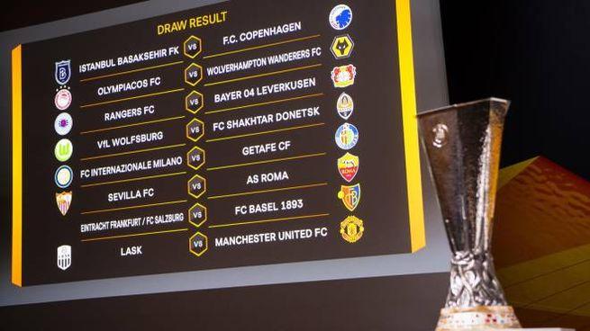 Gli accoppiamenti degli ottavi di Europa League (Ansa)