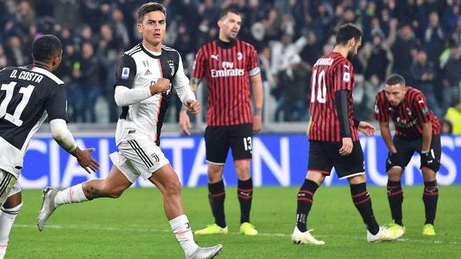 L'esultanza di Dybala, decisivo nell'ultimo Juventus-Milan di campionato
