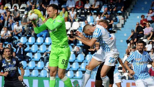 Un momento della partita Spal-Parma del 5 ottobre scorso (Foto Businesspress)