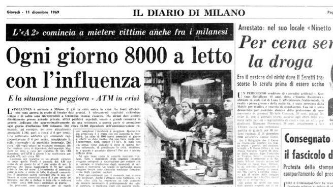 La crisi sanitaria a Milano sul Giorno dell'11 dicembre 1969