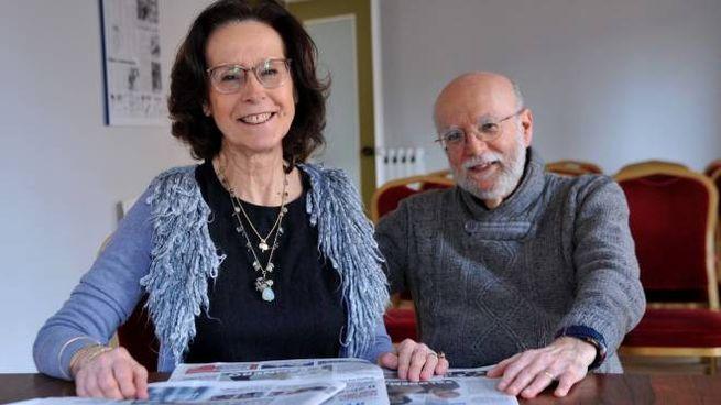 Elisabetta Antonioni, nipote del regista Michelangelo, con il marito Pier Paolo Pedriali