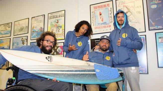 La squadra azzurra di para surf pronta per l'avventura californiana