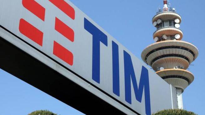 La sede di Rozzano di Tim (Ansa)