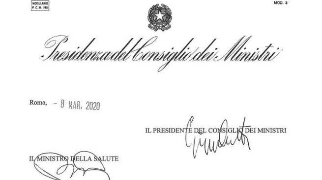 Il decreto firmato da Conte che 'isola' la Lombardia e altre 14 province