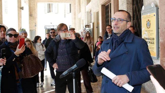 La conferenza stampa del sindaco Matteo Ricci (Fotoprint)