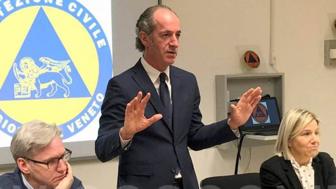 Il governatore del Veneto Luca Zaia