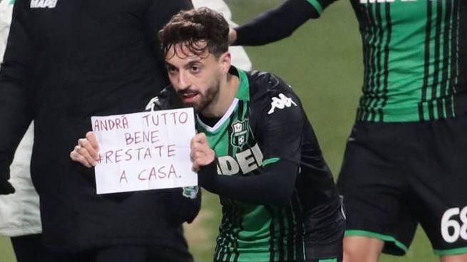 Sassuolo Brescia, il messaggio di Caputo (Foto Ansa)