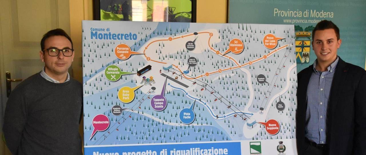 La presentazione del progetto di riqualificazione della stazione sciistica di Montecreto
