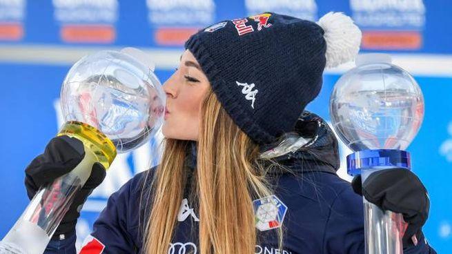 Dorothea Wierer  vince la Coppa del Mondo di biathlon (Ansa)