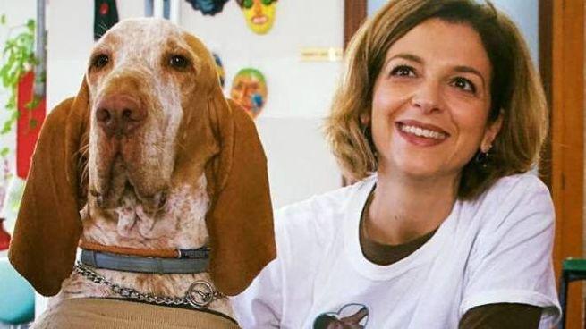 Francesca Petrucci con il suo amato Bracco