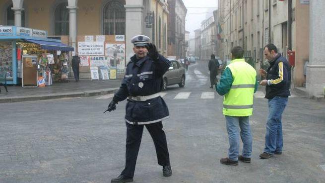 La polizia municipale di Faenza