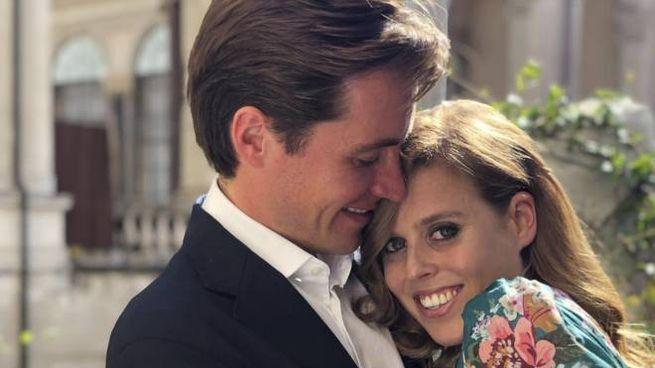 Edoardo Mapelli Mozzi e la principessa Beatrice di York (Ansa)