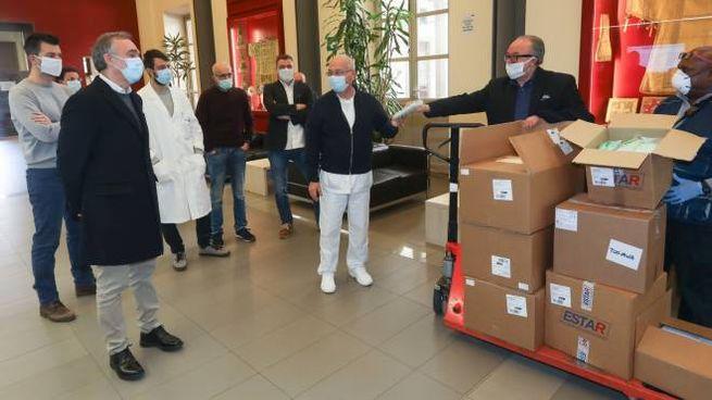 Enrico Rossi a S. Maria Nuova (foto Giuseppe Cabras/New Press Photo)