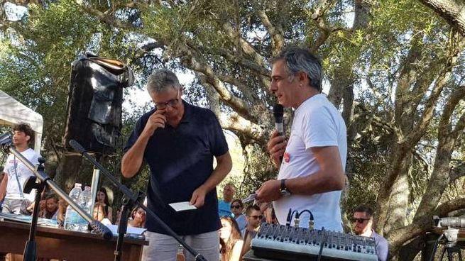 Una foto della presentazione che Parsi e Fresu hanno fatto del libro lo scorso agosto al Festival Time in Jazz a Berchidda