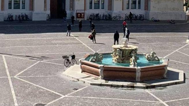 L'immagine di Piazza del Popolo di questa mattina: deserta