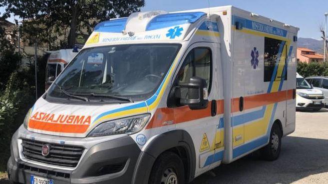 Una delle ambulanze