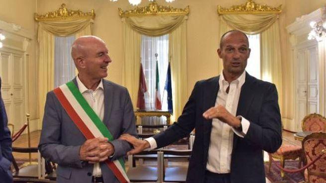 Luca Salvetti con Massimiliano Allegri