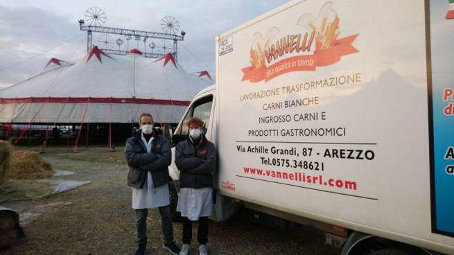 Circo consegna carne ditta Vannelli