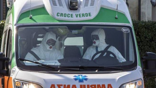 Un'ambulanza della croce verde
