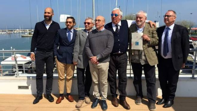 La presentazione (un anno fa) del progetto per l'ex Delfinario di Rimini