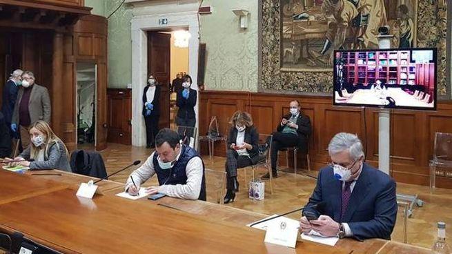 Palazzo Chigi, l'incontro tra maggioranza e opposizioni (Dire)