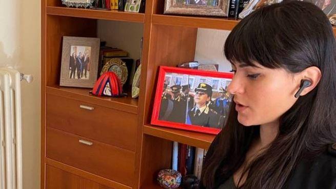 Il capitano Martina Panerai, psicologa della Legione Emilia Romagna