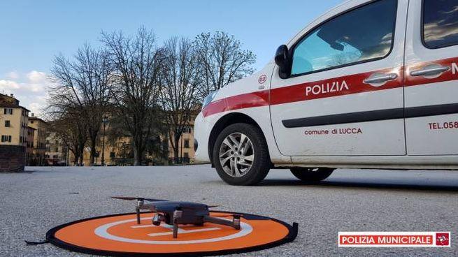 Controlli con i droni a Lucca