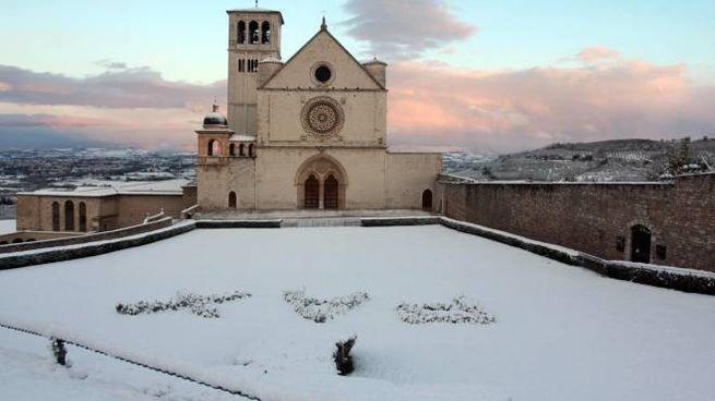 Assisi, la neve