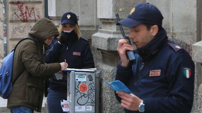 Controlli per le strade di Milano