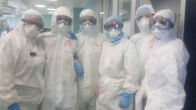 Il team di Rianimazione dell'ospedale di Civitanova