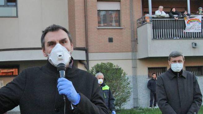 Il sindaco Davide Serranò e don Lorenzo Truccolo