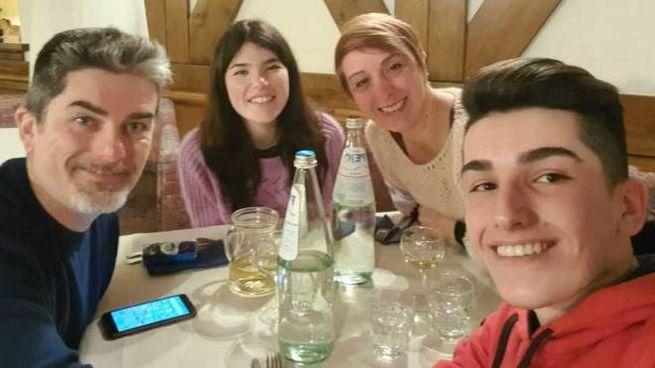 Laura Bortolini con la famiglia