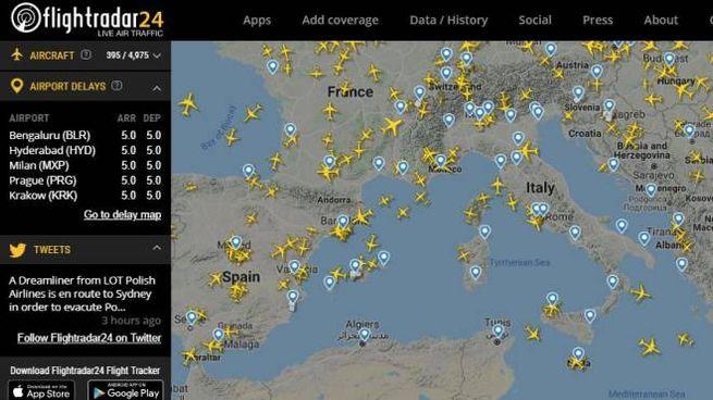 Coronavirus e traffico aereo