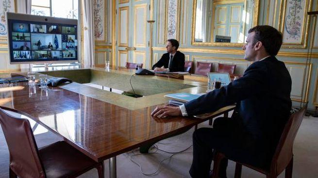 Il presidente francese Emmanuel Macron (foto Ansa)