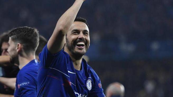 Pedro Rodriguez con la maglia del Chelsea