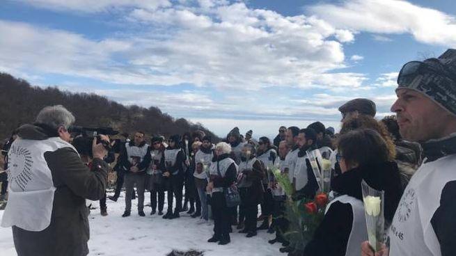 I familiari delle 29 vittime di Rigopiano all'ultimo anniversario, il 18 gennaio