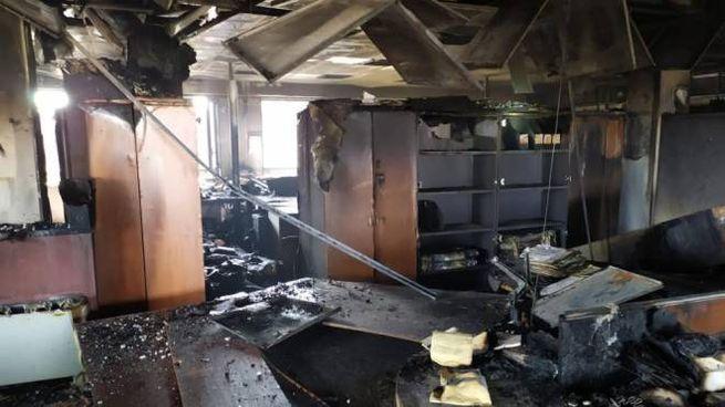 Incendio al Tribunale di Milano