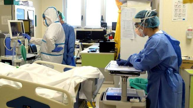 Coronavirus, medici e infermieri in ospedale (foto Ansa)