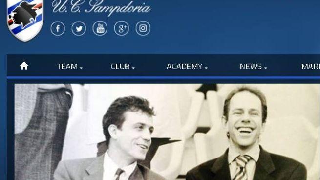 Filippo Mantovani con il fratello Enrico (www.sampdoria.it)