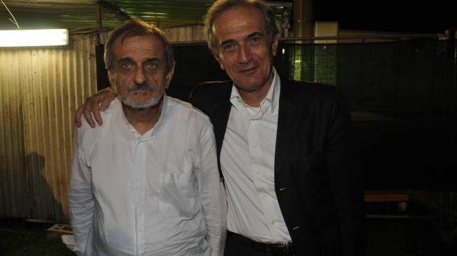 Don Vittorio Zattini (a sinistra) con il fratello Gian Luca