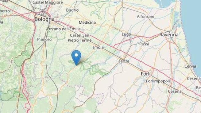 Terremoto di magnitudo 3.0 registrata nel bolognese (fonte Ingv OpenStreetMap)