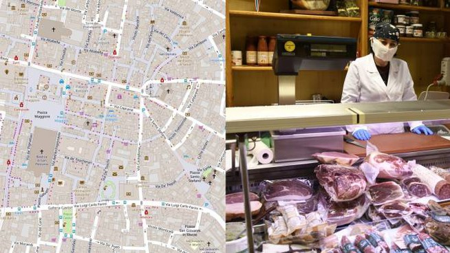 Bologna, mappa interattiva per la spesa a domicilio (Fonte Comune Bologna OpenStreetMap)