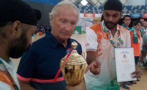 Aldo Baraldi ai tempi della sua esperienza di allenatore delle squadre nazionali dell'India