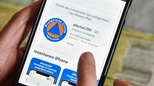 L'app della Regione Lombardia AllertaLOM