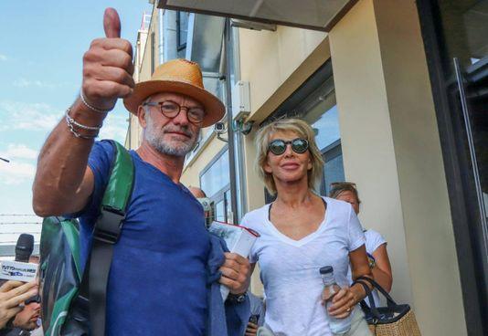 Sting con la moglie Trudy in Toscana