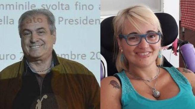 Il padre Giancarlo Leonardi  e la figlia Federica